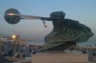 Sculpture at Katara amphitheatre